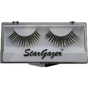 Stargazer Reusable False Eyelashes Black & Silver Foil 27