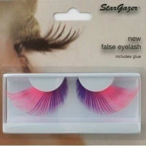 Stargazer Reusable False Eyelashes Extra Long Pink & Purple 55