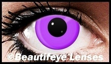 Violet Block Funky Crazy Coloured Contact Lenses (90 Day)
