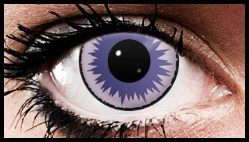 Violet Starburst Crazy Coloured Contact Lenses (90 days)