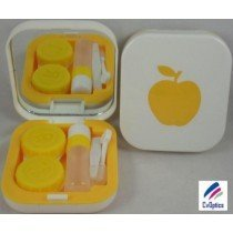 Yellow Design Contact Lens Travel Kit With Mirror