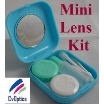 Blue Mini Contact Lens Travel Kit