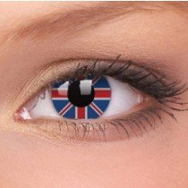 Union Jack Crazy Colour Contact Lenses (1 Year Wear)