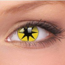 Yellow Star Crazy Colour Contact Lenses (1 Year)