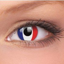 France Flag Crazy Colour Contact Lenses (1 Year Wear)