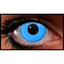 Blue UV Reactive Crazy Coloured Contact Lenses (90 Day)
