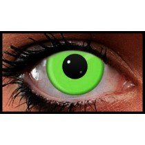 Green UV Reactive Crazy Coloured Contact Lenses (90 Days)