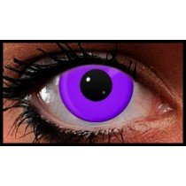 Violet UV Reactive Crazy Coloured Contact Lenses (90 Day)