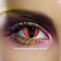 EDIT Crazy Red Cat Eye Contact Lenses