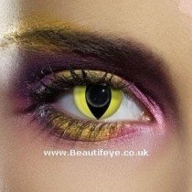 EDIT Crazy Yellow Cat Eye Contact Lenses