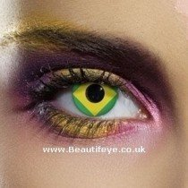 EDIT Flag Brazil Contact Lenses
