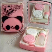 Lovely Panda Designer Contact Lens Travel Kit With Mirr