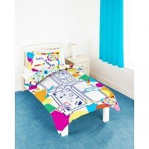 Mister Maker Colour and Play Single Duvet - Includes 6 Washable Pens