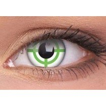 Green Target Crazy Colour Contact Lenses (1 Year)