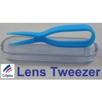 Blue Scissor Style Tweezers For Handling Contact Lenses