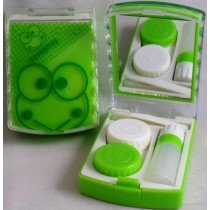 Lovely Green Frog Contact Lens Storage Soaking Travel Kit