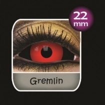 Gremlin Black and Red Sclera Full Eye Contact Lenses 22mm (6 Month)
