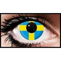 Swedish Flag Colour Contact Lenses (90 Day)