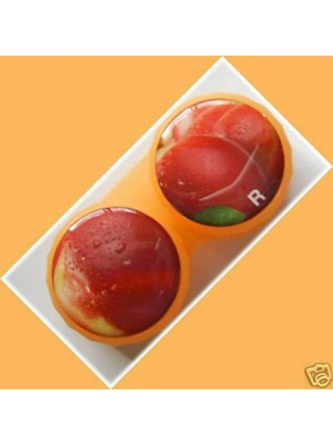 Peach Summer Fruits Contact Lens Holder For Lenses