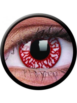 1 Day Use Blood Shot Rage Crazy Colour Contact Lenses
