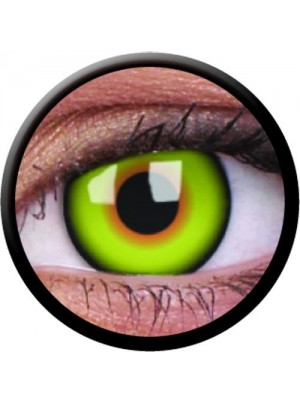 1 Day Use Mad Hatter Green Yellow Crazy Colour Contact Lenses