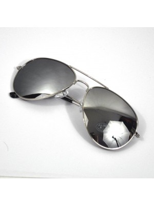 Silver Mirror Aviator Sunglasses Shades UV400 Protection