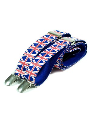 Unisex Printed Union Jack Fashion Braces
