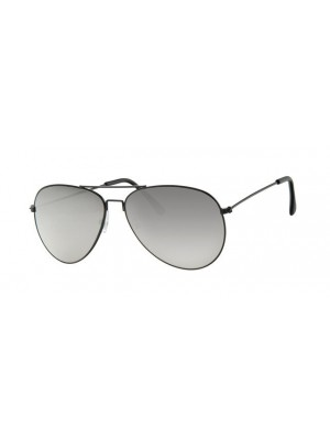Unisex Silver Sunglasses With Black Metal Frame UV400 Protection a30099