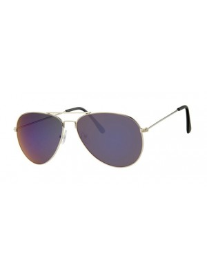 Unisex Purple Fade Sunglasses With Silver Metal Frame UV400 Protection a30099
