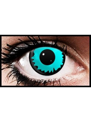 Aqua Eclipse Crazy Coloured Contact Lenses (90 Day Lenses)