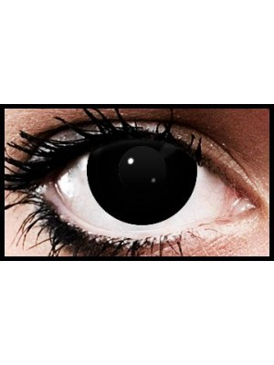 Black Block Halloween Coloured Contact Lenses (90 Days)