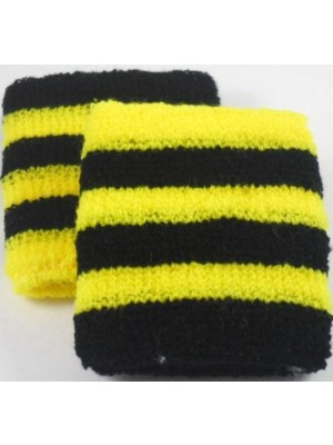 Black and Yellow Striped Sweatband / Armband