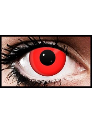 Blood Red Crazy Coloured Contact Lenses (90 Day Lenses)