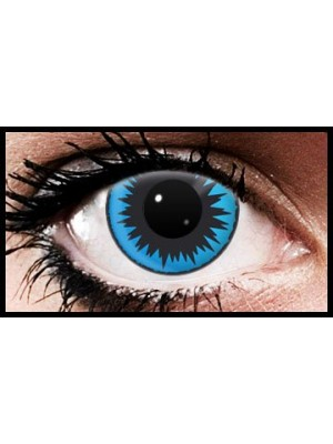 Blue Starburst Crazy Coloured Contact Lenses (90 Days)