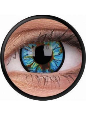 Blue Streak Crazy Colour Contact Lenses (1 Year Wear)