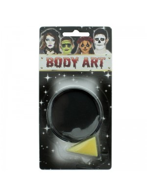 Black Fancy Dress Halloween Party Makeup Face Paint With Sponge