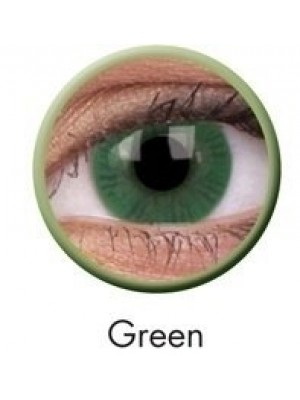 ColourVUE Green Basic Coloured Contact Lenses (90 Day)