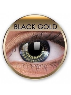 Stars & Jewels Black Gold Crazy Coloured Contact Lenses (90 Day)