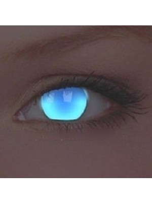 UV Glow Electric Blue Crazy Colour Contact Lenses (1 Year)