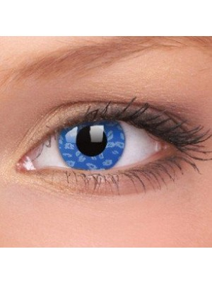 Blue Leopard Crazy Colour Contact Lenses (1 Year Wear)