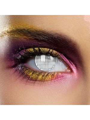 EDIT Colour Vision White Mesh Contact Lenses