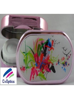 Floral Explosion Karine Faou Contact Lens Soaking Case