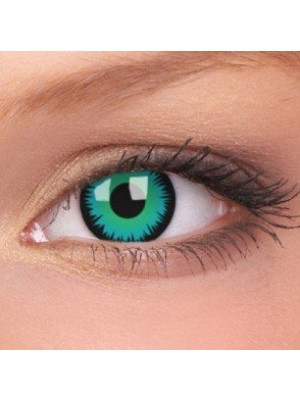Green Werewolf Crazy Colour Contact Lenses (1 Year Wear)