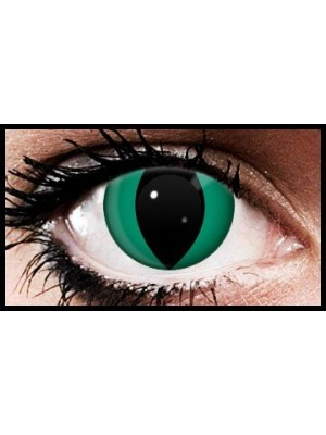 Green Cat Crazy Coloured Contact Lenses (90 Days)