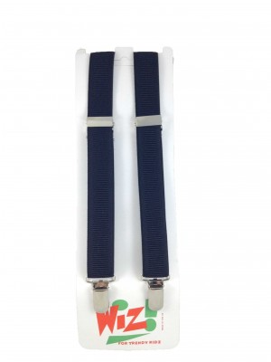 Children's Plain Navy Blue Braces By Wiz