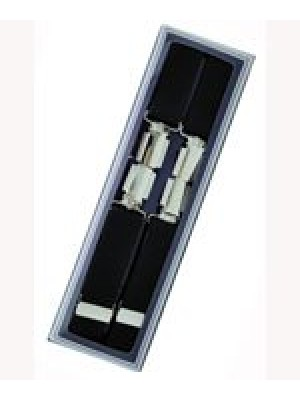 Men's Hardwearing Black 25mm Fashion Braces