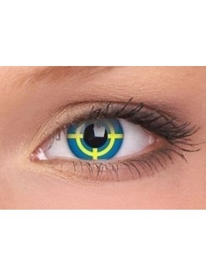 Yellow Target Crazy Colour Contact Lenses (1 Year)