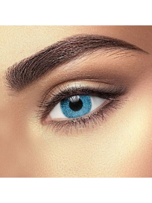 Silky Blue 1 Tone Coloured Contact Lenses