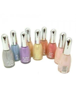 La Femme Set of 9 Nail Polish In Pearl Colours Set Tray 3