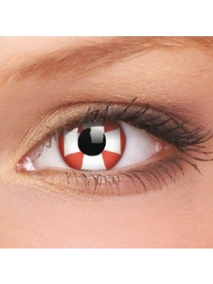 Red Cross Crazy Colour Contact Lenses (1 Year Wear)